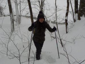 寒さが苦手でも雪に突入してみたり…